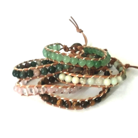 Timeless Bead & Leather Cord Braided Bracelet