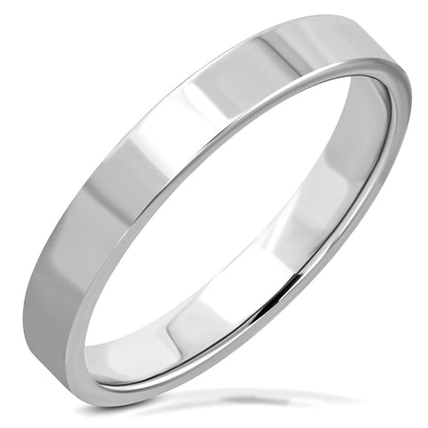 Tungsten Carbide Flat Band Ring - Rings - Rebelroad.co.za