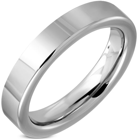 Tungsten Carbide High Polish Comfort Fit Flat Band Ring - Rings - Rebelroad.co.za