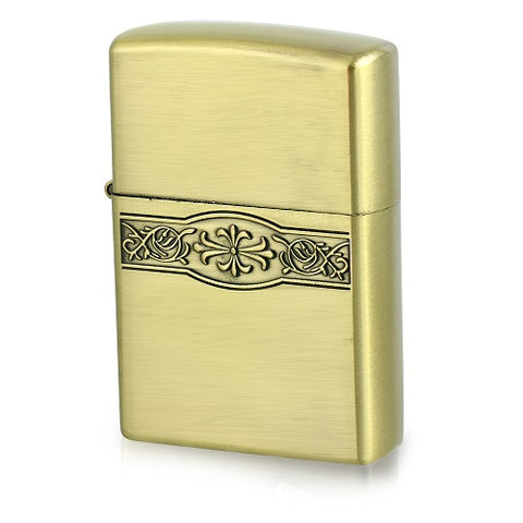Vintage  Style Fleur Refillable Flip Top Lighter - Lighters - Rebelroad.co.za