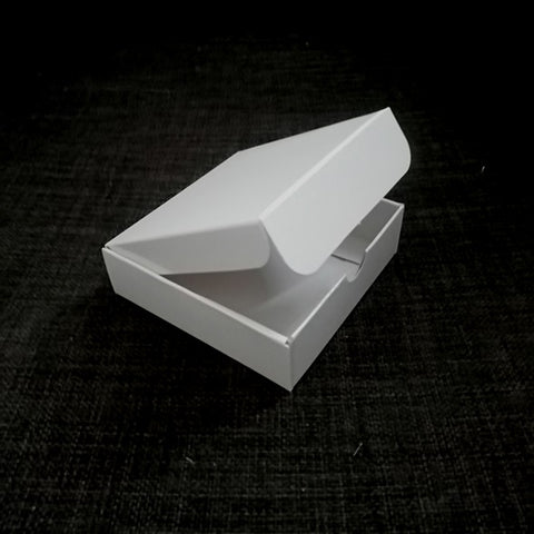 White Gloss Carton Shallow Square Gift Box