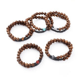 Wood & Various Gemstone Bracelet Sets