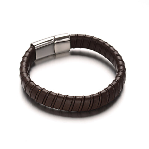 Wrapped Leather Bracelet - Bracelets - Rebel Road