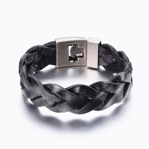 Wide Cord Braided Bracelet - Bracelets - Rebelroad.co.za