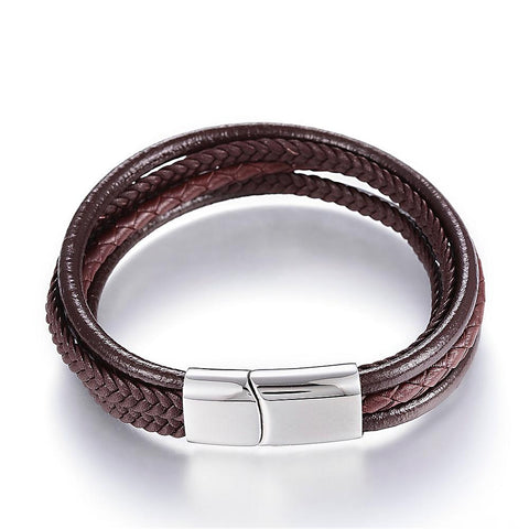 Multi Cord Brown Bracelet - Bracelets - Rebel Road