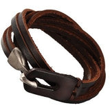 3-Loop Cowhide Leather Wrap Bracelets - Rebelroad.co.za - 1