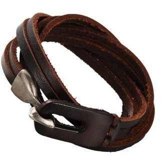 3-Loop Cowhide Leather Wrap Bracelets - Bracelets - Rebel Road