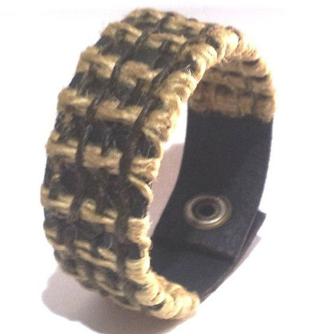 Beige & Brown Woven Bracelet - Bracelets - Rebel Road