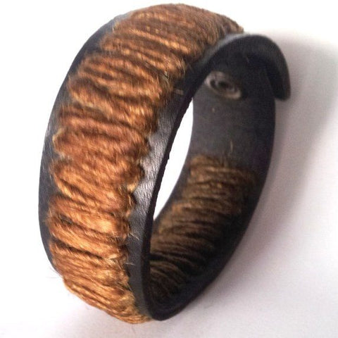 Brown Woven Bracelet - Rebelroad.co.za