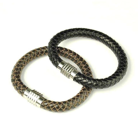 Combination Lock Styled Braided Bracelet - Rebelroad.co.za