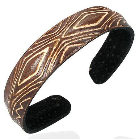 Diamond-Shaped Cuff Bracelet - Rebelroad.co.za