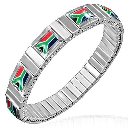 Flag Of South Africa Stretch Bracelet - Bracelets - Rebel Road