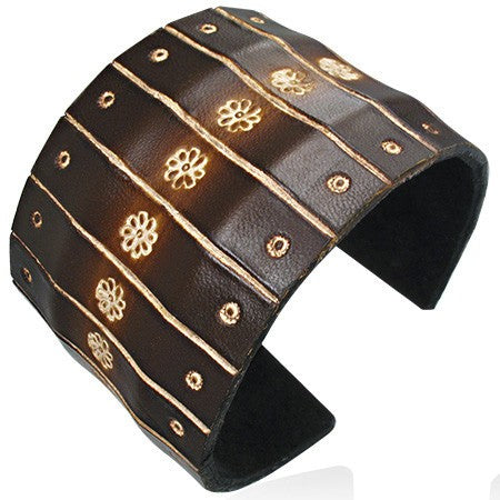 Flower Cuff Wide Bracelet - Rebelroad.co.za