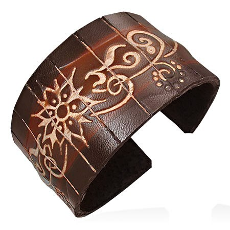 Flower Vine Wide Cuff Bracelet - Bracelets - Rebel Road