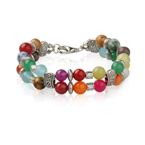 Gemstone Chakra Bracelet - Bracelets - Rebel Road