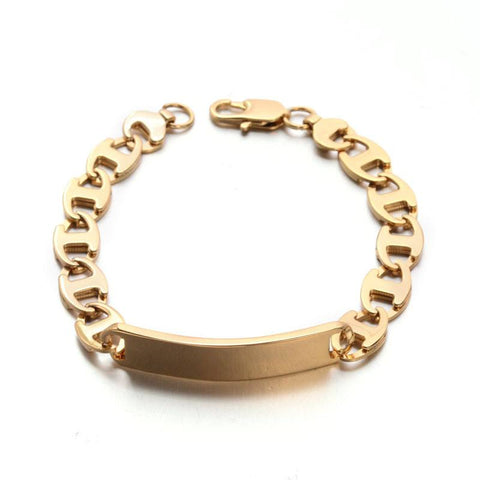 Golden ID Bracelet - Bracelets - Rebel Road