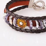 Leather Glam Bracelet - Bracelets - Rebel Road