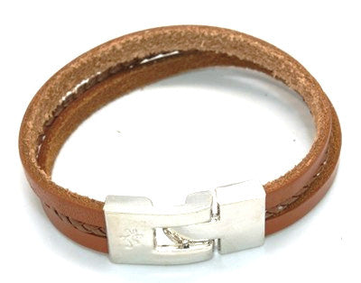 Mac Leather Bracelet - Bracelets - Rebel Road
