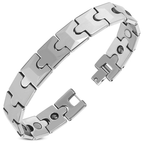Mens Panther Link Magnetic Bracelet - Bracelets - Rebel Road