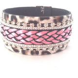 Pink Wide Chain Bracelet - Bracelets - Rebel Road