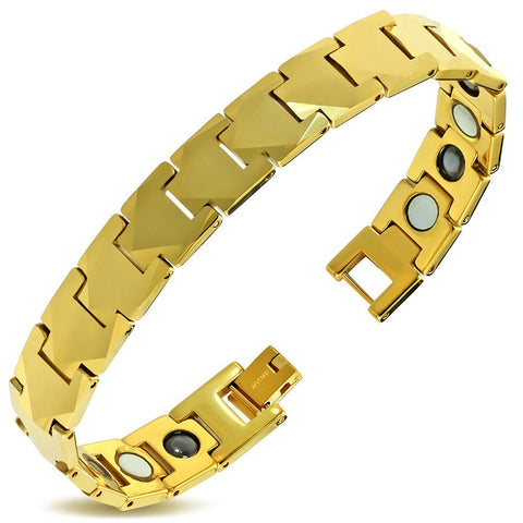 Tungsten Carbide Panther Link Bracelet - Bracelets - Rebel Road