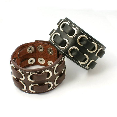 Punk Rock Leather Bracelet - Bracelets - Rebel Road