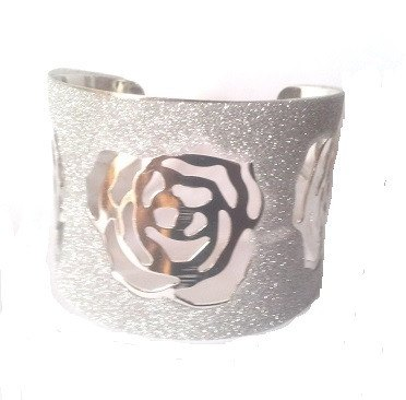 Rose Cuff Bracelet - Bracelets - Rebel Road