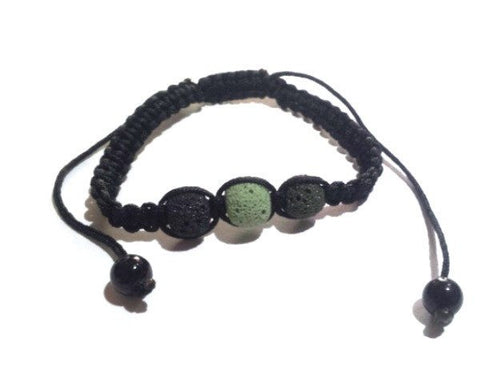 Shamballa Bracelet with Lava Gemstone - Bracelets - Rebel Road