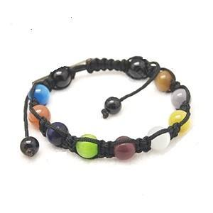 Shamballa Cat Eye Bracelet - Bracelets - Rebel Road