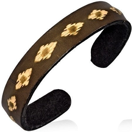 Tribal Pattern Cuff Bracelet - Bracelets - Rebel Road