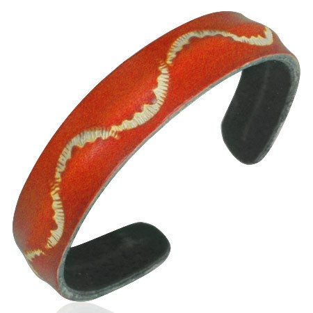 Wave Cuff Bracelet Orange - Bracelets - Rebel Road