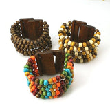 Wood Bead Multi Strand Bracelet - Bracelets - Rebel Road