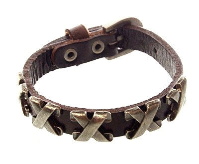 X Element Leather Bracelet - Bracelets - Rebel Road