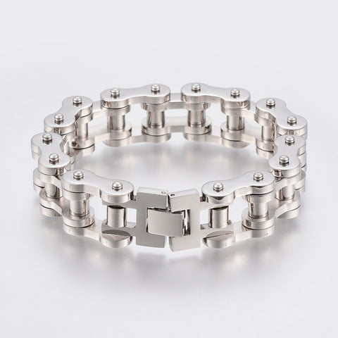 20mm Wide Stainless Steel Motorcycle Chain Bracelet