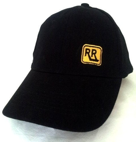 Black Brushed Cotton INSIGNIA Cap - Caps - Rebel Road
