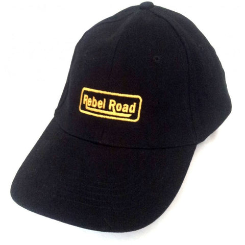 Black Brushed Cotton LOGO Cap - Caps - Rebel Road