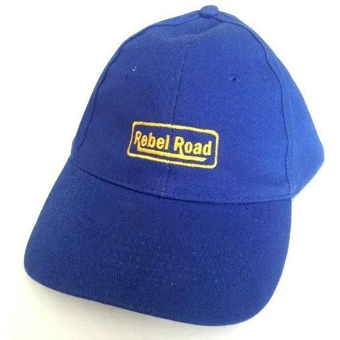 Blue Brushed Cotton LOGO Cap - Rebelroad.co.za