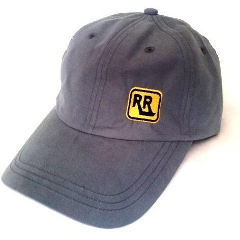 Grey Micro Fibre INSIGNIA Cap with Belt Buckle Closure - Caps - Rebel Road