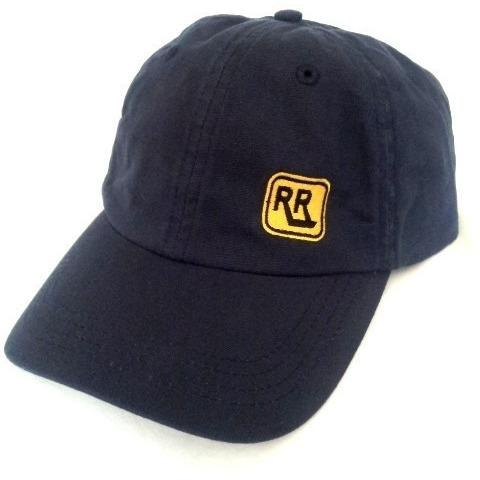 NAVY Washed Canvas INSIGNIA Cap with Brass Clasp - Rebelroad.co.za