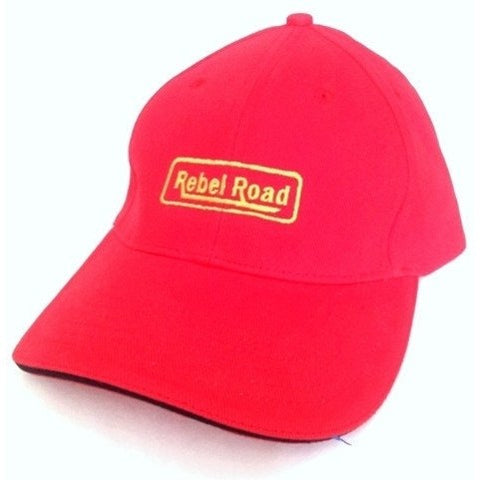 Red with Black Sandwich LOGO Cap - Caps - Rebel Road