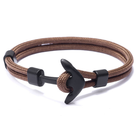 Dark Brown Anchor Bracelet