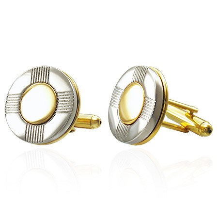 Circle Mens Cufflinks - Cuff Links - Rebel Road