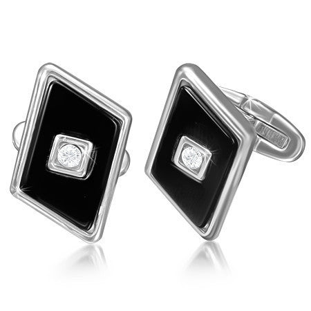 Diamond Style Cuff Links - Rebelroad.co.za