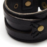 Black Wide Bracelet - Bracelets - Rebel Road