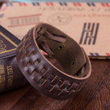 Unisex Leather Snap Bracelet - Bracelets - Rebelroad.co.za