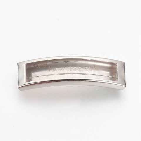 12mm Curved Open Slide Charm