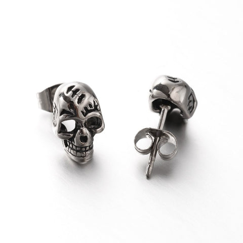 Skull Ear Stud - Ear Stud - Rebelroad.co.za