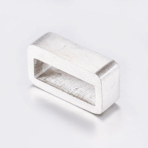 Narrow rectangle Engravable Slide Charm