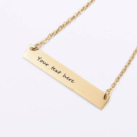 Golden ID Engravable Pendant Necklace