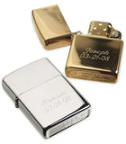 Star Plain Engravable Refillable Flip Top Lighter